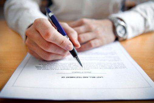 Клиент пишет заявление о расторжении