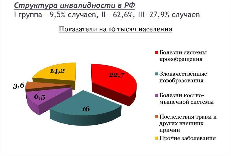 Структура инвалидности РФ