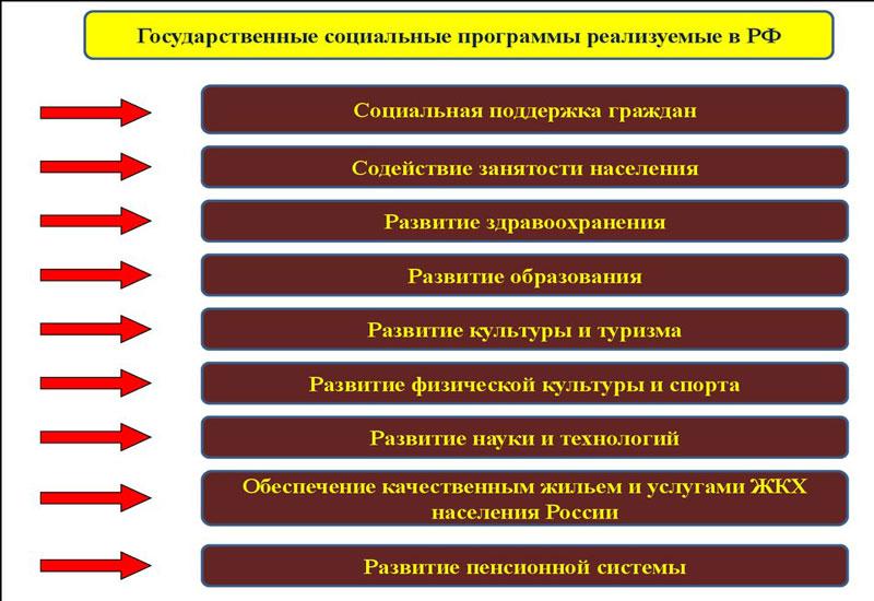 государственные социальные программы реализуемые в РФ